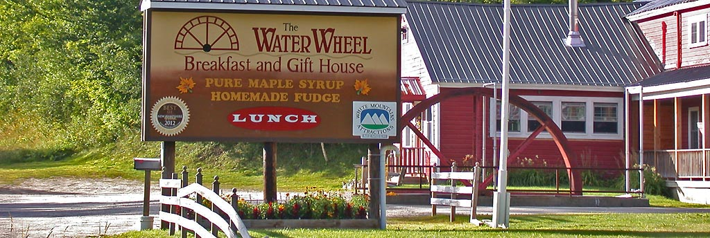 Welcome to our Gift House ~. Locally made maple syrup, Jefferson, NH